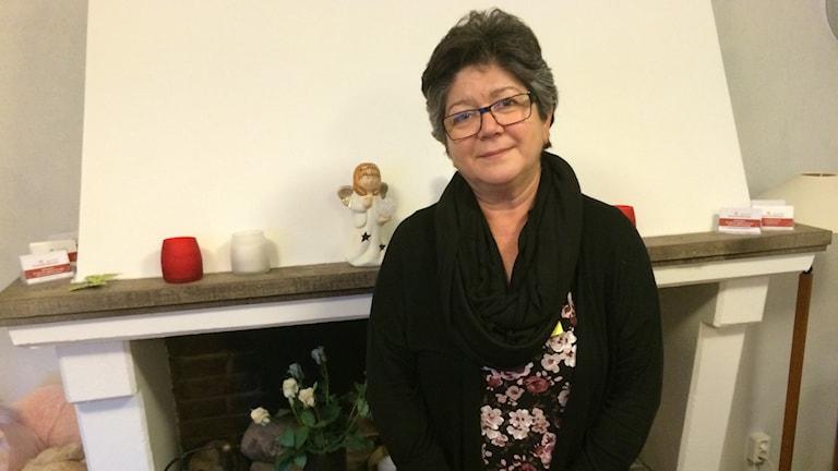 Mariana Österblom, verksamhetschef på kvinnojouren i Fagersta. Foto: Mattias Pleijel/Sveriges Radio.