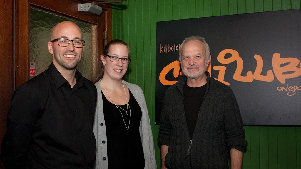 Marcus Jakobsson, Stina Barrsäter och Hasse Harrysson engagerar sig för kulturlivet i Västerbykil. Foto: Pia Lindhe Rudolf/Pila Media.
