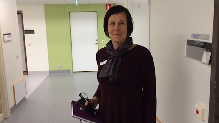 Ann-Cathrine Ahlén/enhetschef på Ätstörningsenheten i Västmanland. Foto: Jenny Rask/SR