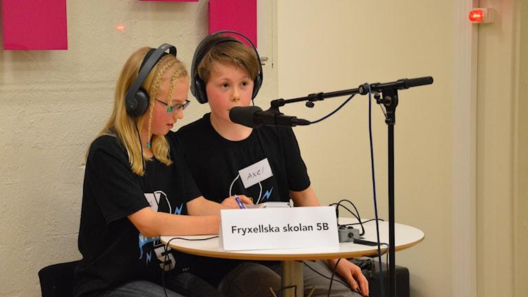 Sofi Holmberg och Alex Wäppling från Fryxellska. Foto: Eva Kleppe/Sveriges Radio.