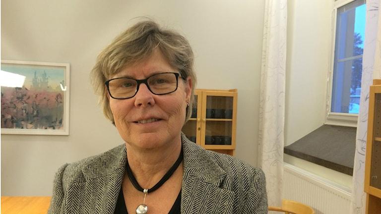 Lena Burström, Hälso- och sjukvårds-strateg på Landstinget Västmanland. Foto:Terje Lund/Sveriges Radio