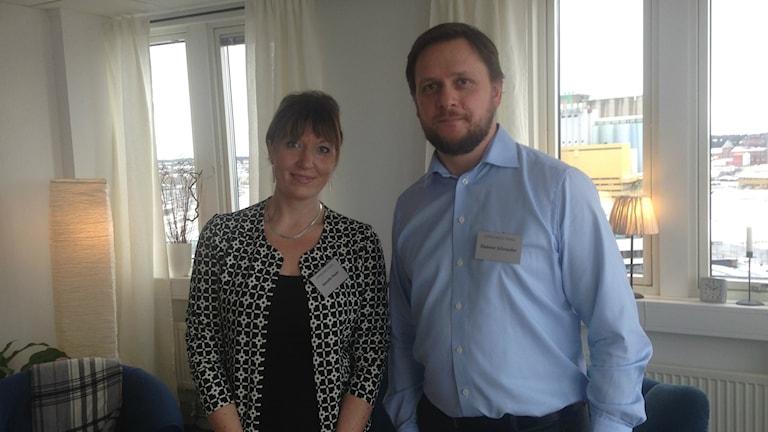 Janette Bauer och Dittmar Scharr. Foto: Mattias Rensmo/Sveriges Radio