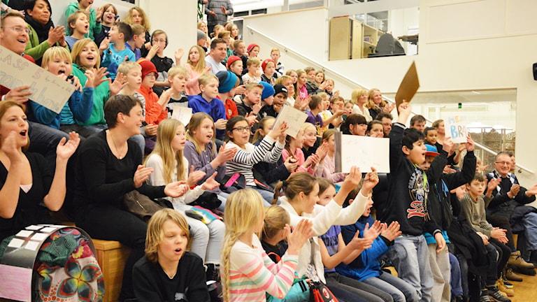 Publiken är laddad. Foto: Eva Kleppe/Sveriges Radio.