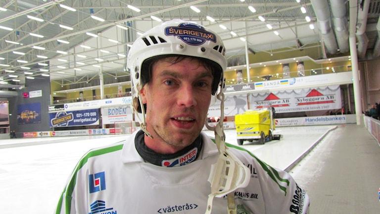 Jonas Nilsson VSK Bandy. Foto: Hans Sjöström/Sveriges Radio