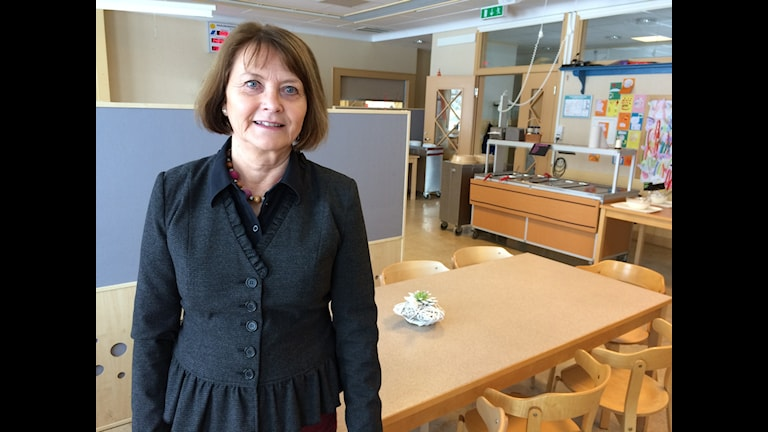 Rektorn på Dingtuna skola, Margareta Vestlund.