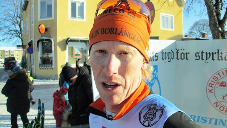 Kalle Gräfnings, vinnare i Engelbrektsloppet 2015. Foto: Hans Sjöström/Sveriges Radio.
