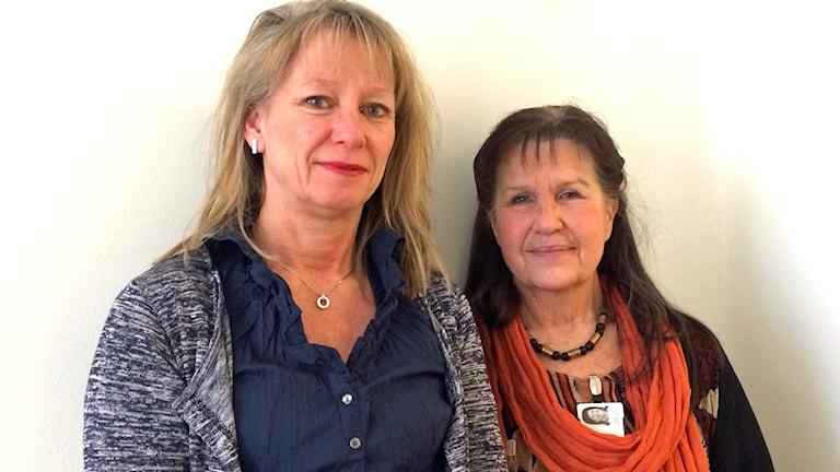 Sunsanne Antonsson, kanslichef patientnämnden, och Cecilia Andreasson, utredare på Västmanlands landsting. Foto: Sofie Tejre/SR