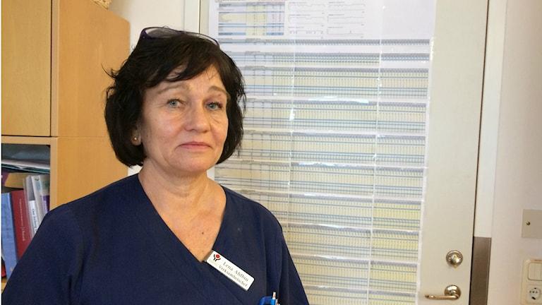 Lena Ahlbin, verksamhetschef Kvinnokliniken. Foto:Terje Lund/Sveriges Radio