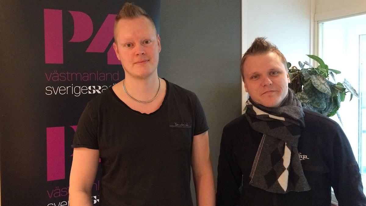 Fredrik Hudson och Kristoffer Hurtta i The Diverse. Foto: Martin Vare/Sveriges Radio