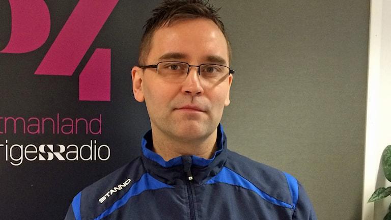 Stefan Karlsson, distrikschef Västmanlands Innebandyförbund. Foto: Liselotte Karlsson/SR