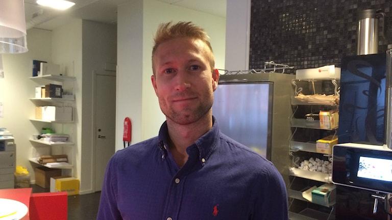 Andreas Ljunggren Eriksson. Foto: Terje Lund/Sverigesradio