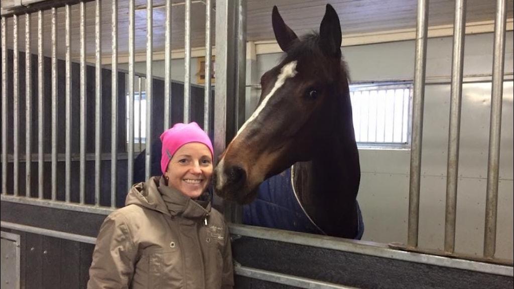 Stina Lillje från Arboga som  med hästen Rihanna K ska tävla i Gothenburg Horse Show 2015. Foto: Martin Vare