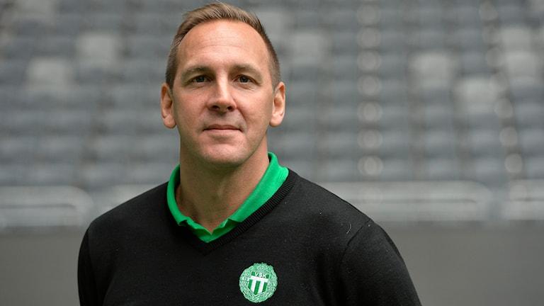 VSK Bandys tränare Michael Carlsson. Foto: Anders Wiklund/TT Bild.