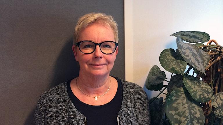 Kari Smedberg Smedberg lärare på Språkspåret. Foto: Jenny Rask/SR