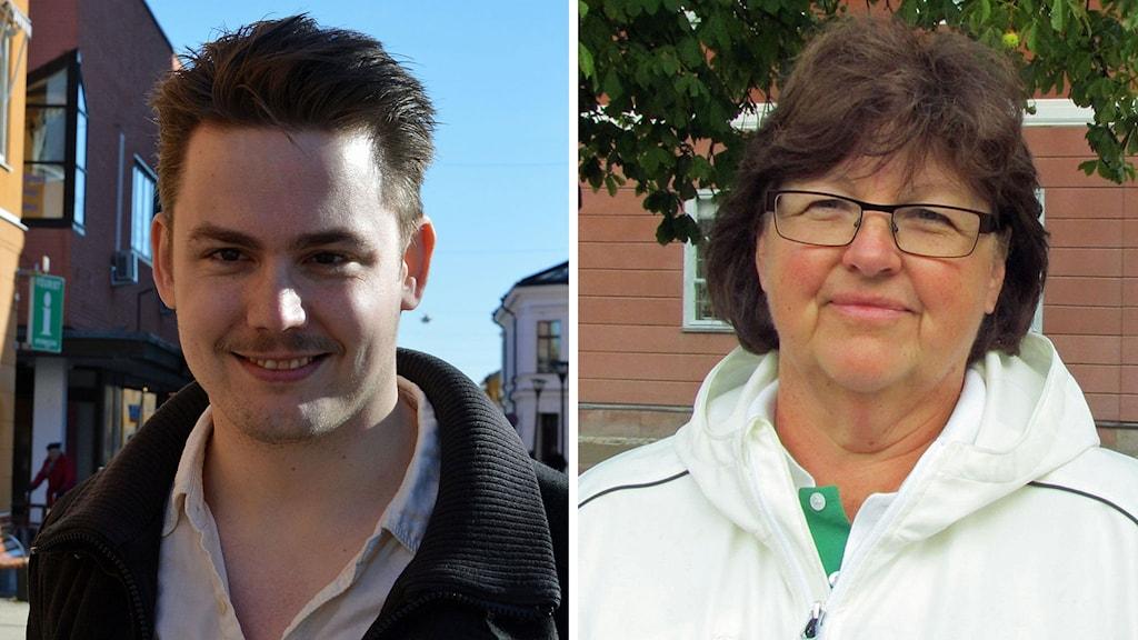 Björn Jacobsen Feministiskt initiativ i Sala och Carloa Gunnarsson Centerpartiet Sala. Foto: Sveriges Radio.
