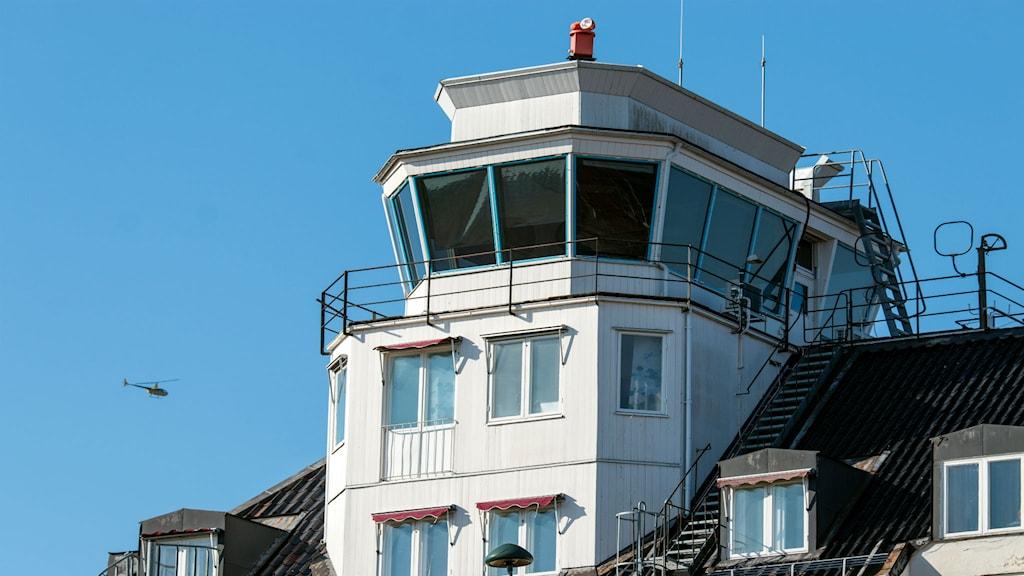 Flygledartornet på Västerås Flygplats. Foto: Andreas Eriksson/Sveriges Radio.