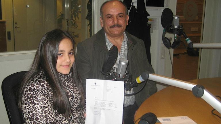 Lorin Eroglu och hennes pappa Kemal.