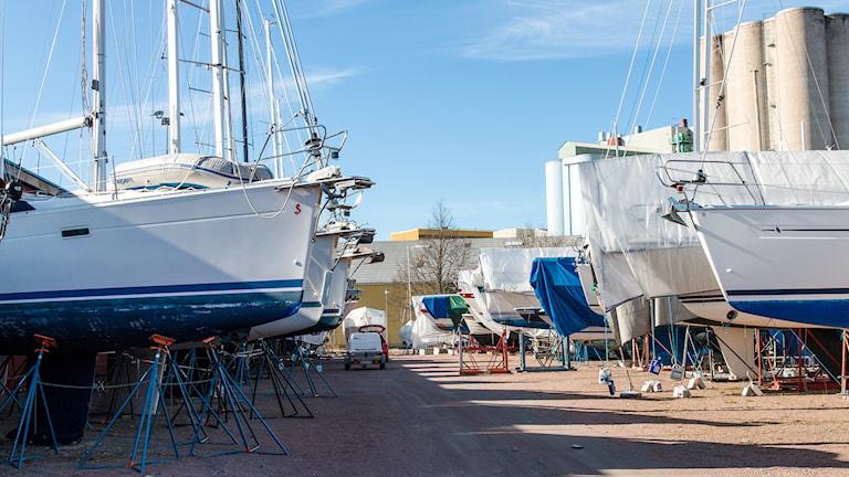 En båtuppläggningsplats vid Lillåudden. Foto: Andreas Eriksson/Sveriges Radio
