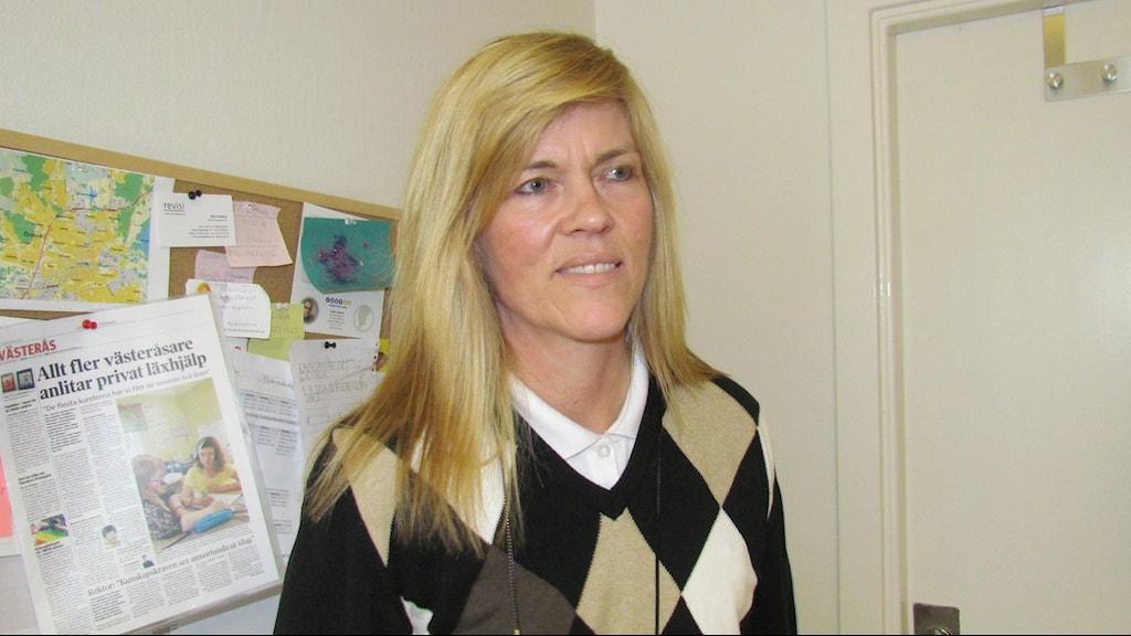 Anne Salmi, VD för Studiesupport, har fått nya förutsättningar för sitt företag. Foto: Erika Mårtensson, Sveriges Radio