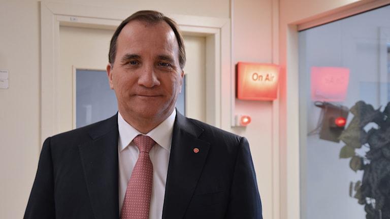 Statsminister Stefan Löfven. Foto: Eva Kleppe/Sveriges Radio.