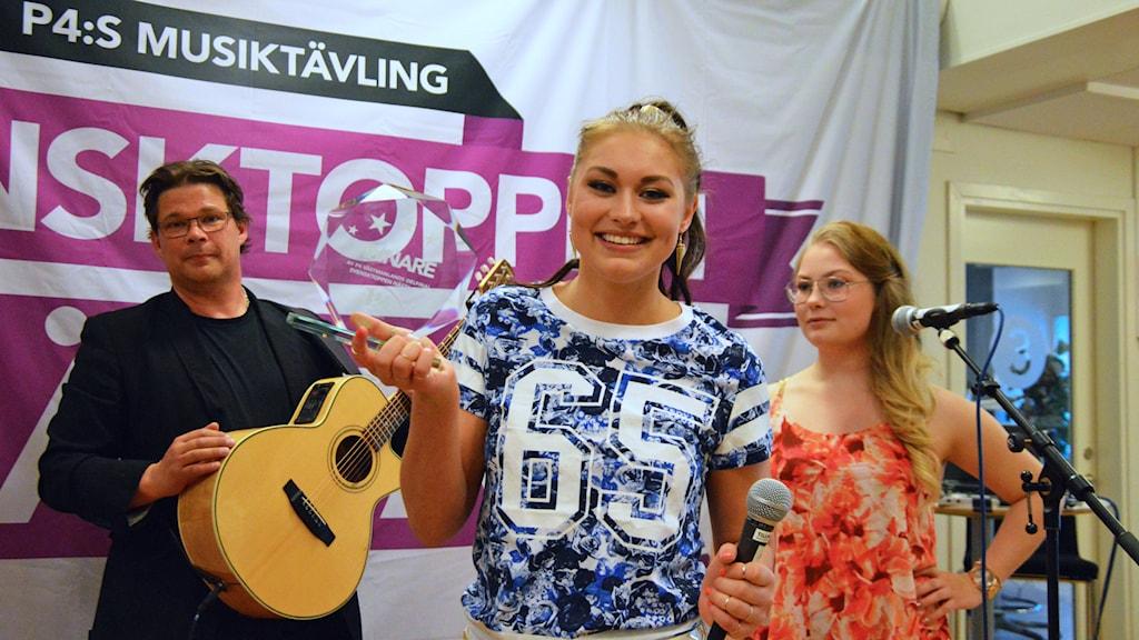 Julia Lorenz tog hem segern. Foto: Eva Kleppe/Sveriges Radio.