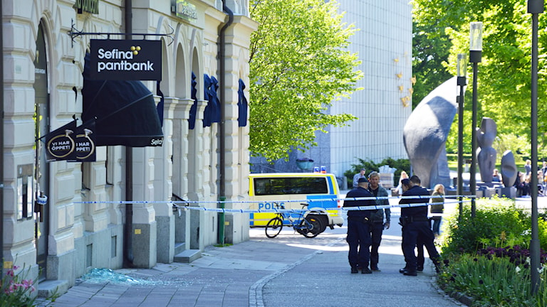 Rån mot pantbanken. Foto: Eva Kleppe/Sveriges Radio.