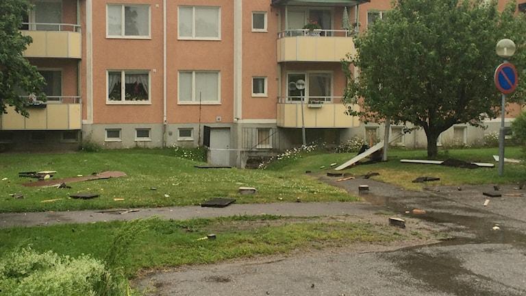 Explosion i Arboga.