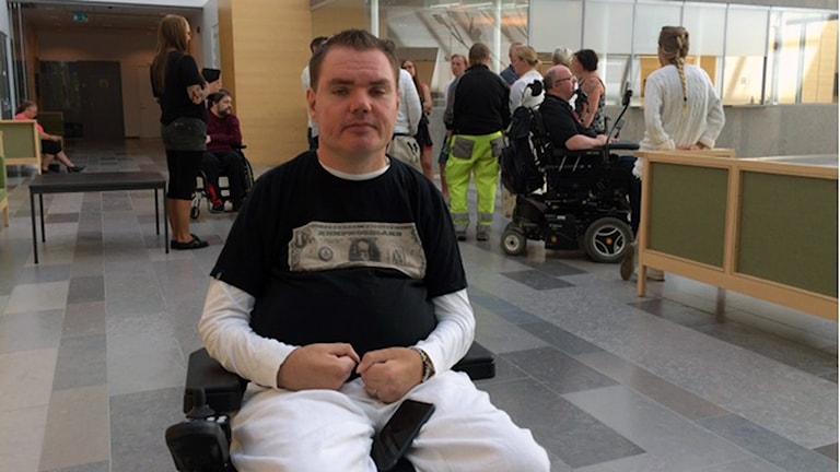 Andreas Thörn vill använda cannabis till smärtlindring. Foto: Jenny Rask/SR