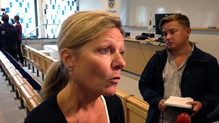 Chefsåklagare Eva Morén. Foto: Kennet Lindquist/Sveriges Radio.