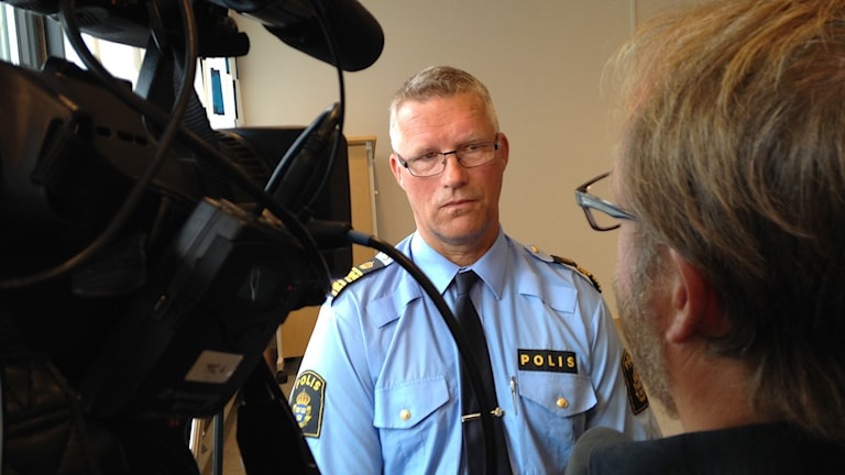 Polisens kommenderingschef Per Ågren. Foto: Kennet Lindquist/Sveriges Radio.