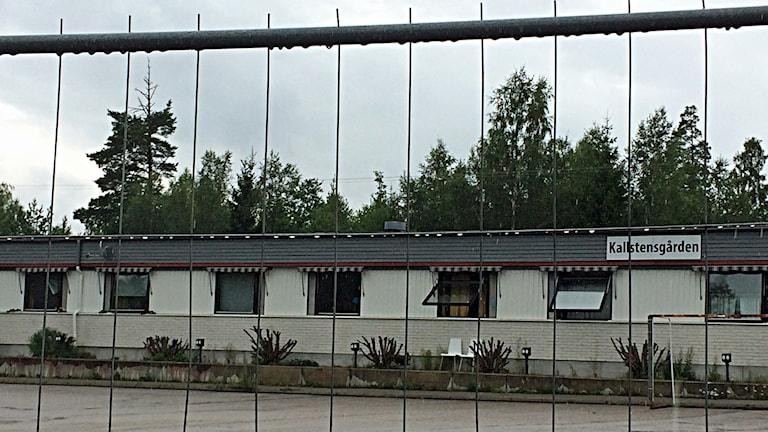 یک مرکز نگهداری از پناهجویان در اربوگا. Foto: Madeleine Nilsson/Sveriges Radio.
