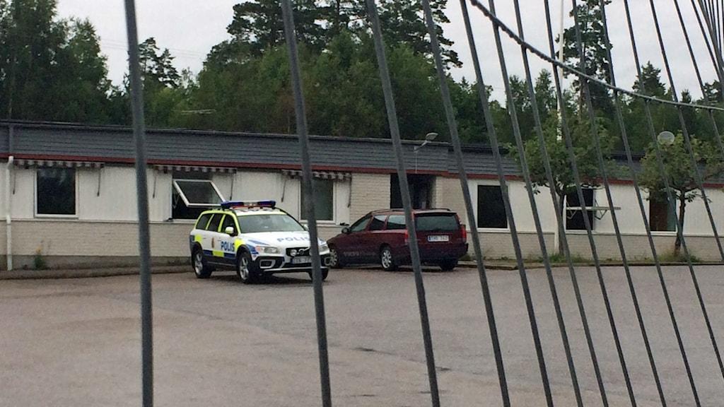 Flyktingförläggning i Arboga. Foto: Madeleine Nilsson/Sveriges Radio.