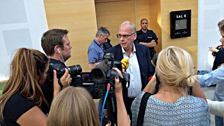 Per-Ingvar Ekblad, 36-åringens advokat. Foto: Jenny Rask/Sveriges Radio.