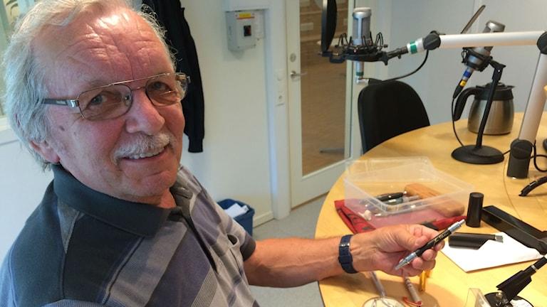 Paavo Jokinen, pennsamlare i Västerås Foto: Liselotte Karlsson/ Sveriges Radio