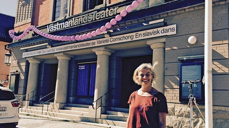 Teaterchefen KajsaGiertz. Foto: Martin Vare/Sveriges Radio.