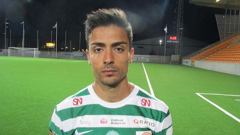 Koyar Salimi VSK Fotboll. Foto: Hans Sjöström/Sveriges Radio