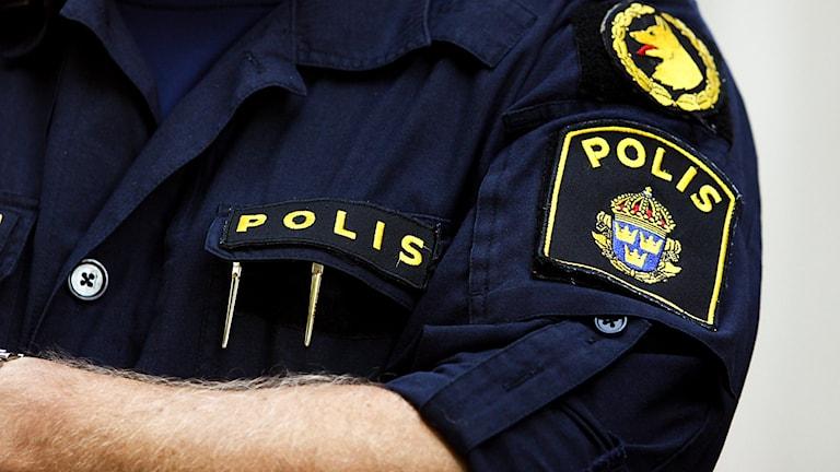 Polisen. Foto: Daniel Gustafsson/Sveriges Radio.