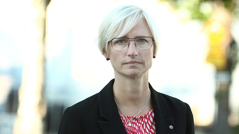 Åsa Eriksson (S), kommunalråd i Norberg. Foto: Daniel Gustafsson/Sveriges Radio.
