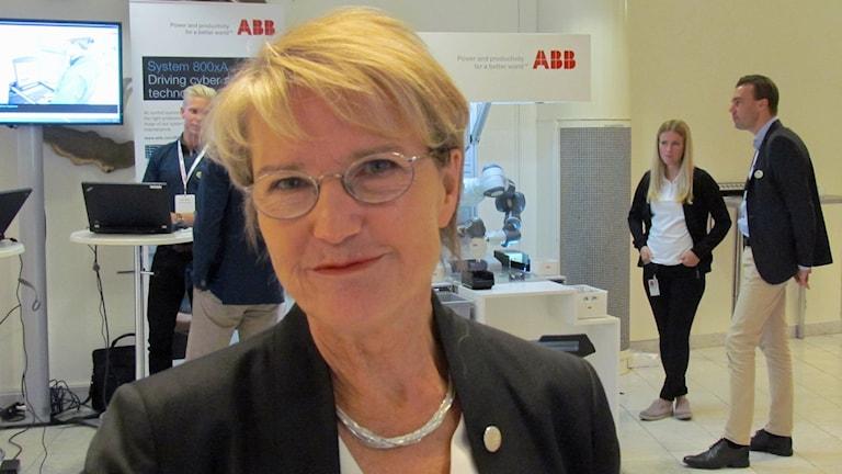 Minister Kristina Persson. Foto: Inga Korsbäck/Sveriges Radio.