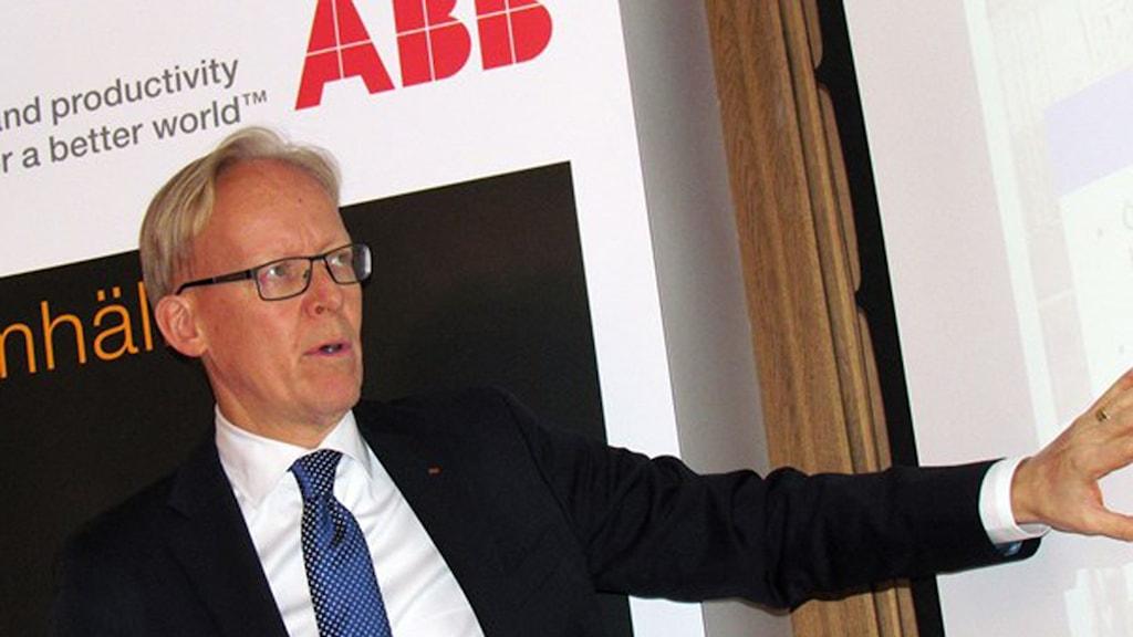 Johan Söderström, vd ABB Sverige. Foto: Kennet Lindquist/Sveriges Radio.