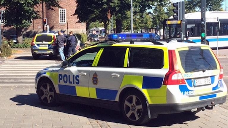 En person greps efter smyckesrånet i Västerås. Foto: August Bergkvist/Sveriges Radio