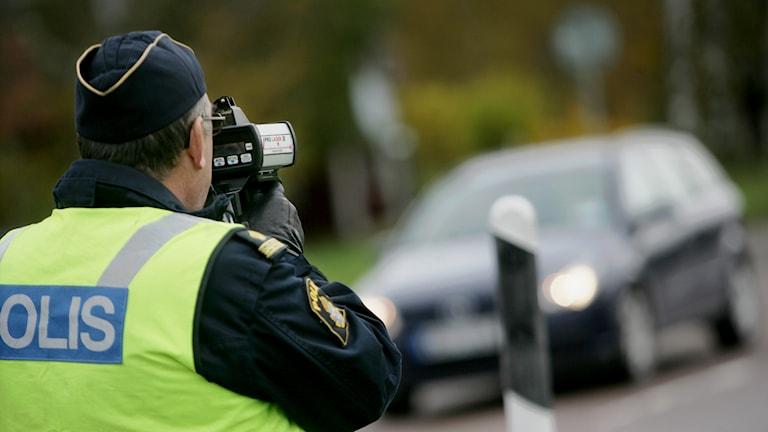 Trafikpolis i aktion / Foto: Fredrik Sandberg. TT