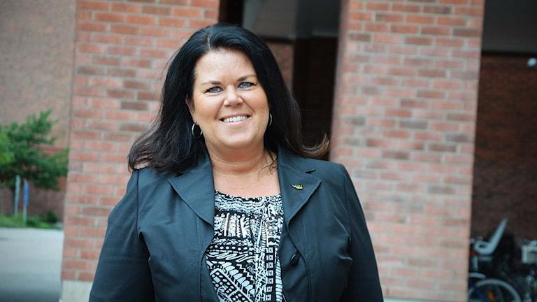 Camilla Törngren, ordförande VIK Hockey. Foto: Daniel Gustafsson/Sveriges Radio.