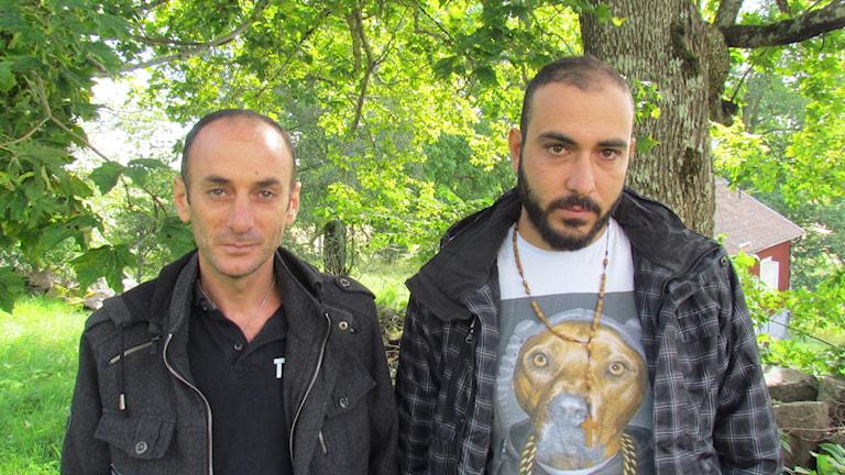 Ibrahim Zajoud, Mubarak Zajoud. Foto: Inga Korsbäck/Sveriges Radio.