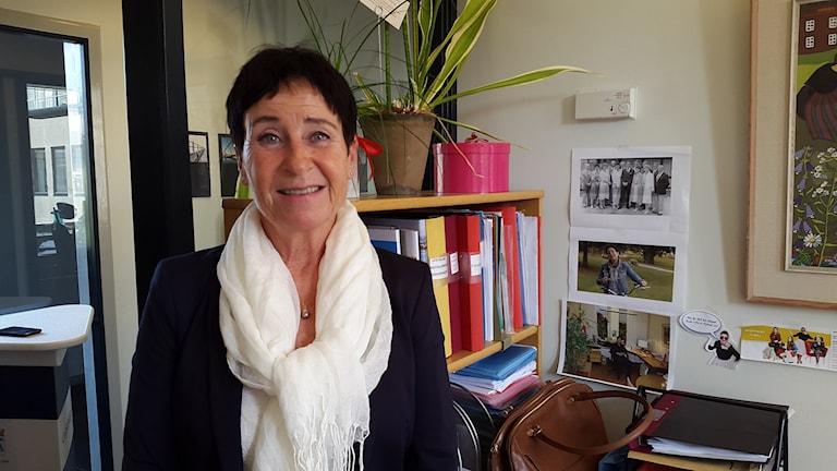 Harriet Pettersson, kommunikatör i Västerås stad. Foto: Elza Zandi/Sveriges Radio