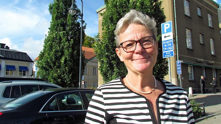 Karin Röding, rektor på Mälardalens Högskola. Foto: Patrik Åström/Sveriges Radio.