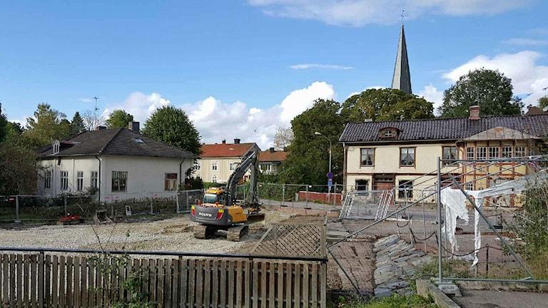 Nu återstår inget av Elsas konditori i Norberg. Foto: Privat.