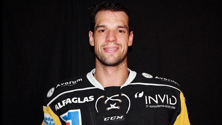 VIK Hockeys tjeckiske back Jakub Cutta. Foto: vikhockey.se.