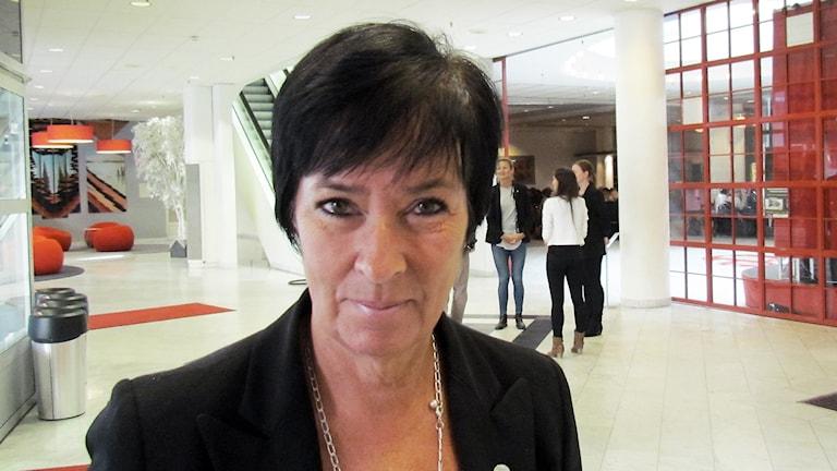 Mona Sahlin på Aros Congress Center i Västerås. Foto: Inga Korsbäck/Sveriges Radio.
