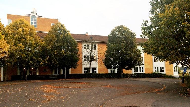 Nya asylboendet på Hässlö i Västerås. Foto: Jenny Rask/Sveriges Radio.